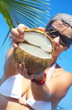 Coconut open Royalty Free Stock Photography