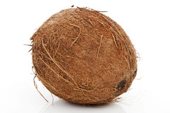 Coconut over white. Royalty Free Stock Photos