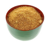 Coconut Palm Sugar Granules in Bowl Royalty Free Stock Photo