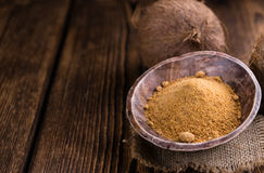 Coconut Palm Sugar (selective focus) Royalty Free Stock Image