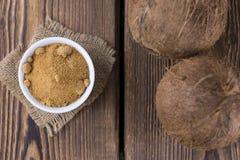 Coconut Palm Sugar (selective focus) stock photography