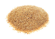 Coconut palm sugar on white background stock photography