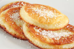 Coconut pancakes Royalty Free Stock Image