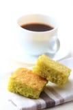 Coconut pandan cake Stock Images