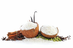 The Coconut parts Stock Photos
