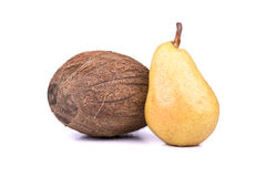 Coconut and pear Stock Image