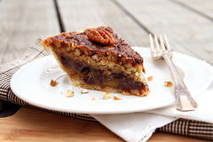 Coconut Pecan Pie Stock Photography