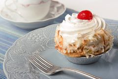Coconut pie with creme Royalty Free Stock Photos