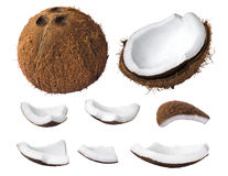 Coconut pieces Stock Images