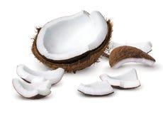 Coconut pieces Stock Photo
