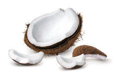 Coconut pieces Royalty Free Stock Images