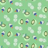 Coconut, pineapple and icecream seamless vector pattern. Royalty Free Stock Photography