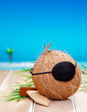 Coconut Pirate Royalty Free Stock Photography