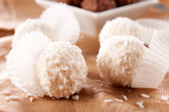 Coconut and pralines Stock Photography