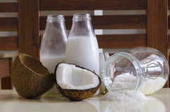 Coconut products Stock Images