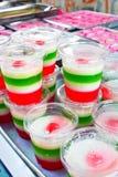 Coconut pudding Stock Photos