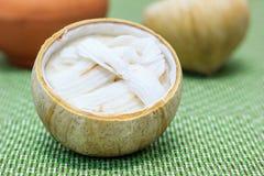 Coconut pudding dessert Stock Image