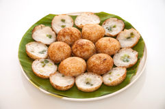 Coconut pudding is a kind of Thai sweetmeat. Stock Photos