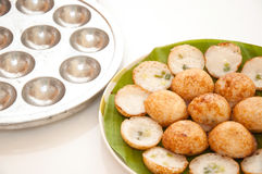 Coconut pudding is a kind of Thai sweetmeat. Royalty Free Stock Photography