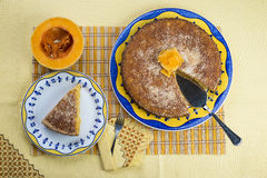 Coconut and pumpkin cake Stock Photography
