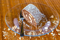 Coconut roll. Delicious coconut roll from Hungary Royalty Free Stock Images
