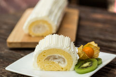 Coconut Roll Cake Stock Images