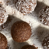 Coconut Rum Balls Royalty Free Stock Image
