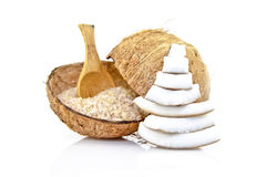 Coconut salt Royalty Free Stock Images