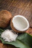 Coconut and salt Stock Photos