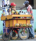 Coconut Seller at Presidency Campaingn Royalty Free Stock Photo