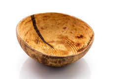 Coconut shell bowl. Stock Photography