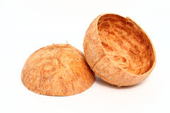 Coconut shell isolated on white background Stock Photography