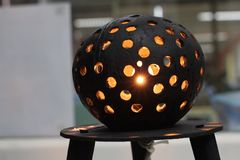 The coconut shell table lamp Royalty Free Stock Image