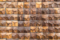 Coconut shell texture wood decor wall Stock Images