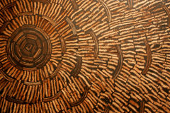 Coconut shell wall. Royalty Free Stock Image