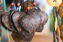 Coconut shell wallet. The coconut shell wallet. You can buy more tourist attraction in Thailand stock photos