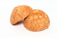 Coconut shell  on white background Royalty Free Stock Photography