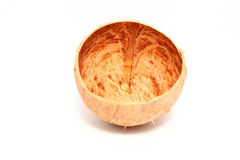 Coconut shell  on white background Stock Photography
