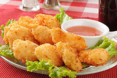 Coconut shrimp closeup Royalty Free Stock Images