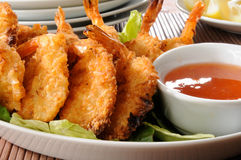 Coconut shrimp prawns Royalty Free Stock Photography