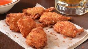 Coconut shrimp stock footage