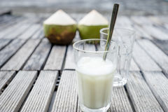 Coconut smoothies Royalty Free Stock Photo