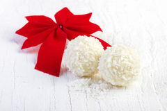 Coconut snowball truffles Stock Photography