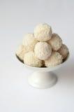 Coconut snowball truffles stock image