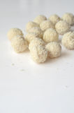 Coconut snowball truffles stock images