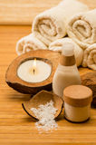 Coconut spa and beauty cosmetics Stock Images
