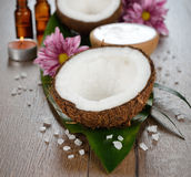 Coconut spa Stock Photos