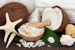 Coconut Spa Treatment Royalty Free Stock Photo