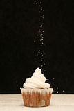 Coconut sprinkled cupcake Royalty Free Stock Photography
