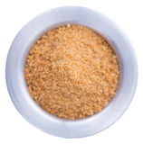 Coconut Sugar isolated on white Royalty Free Stock Photos